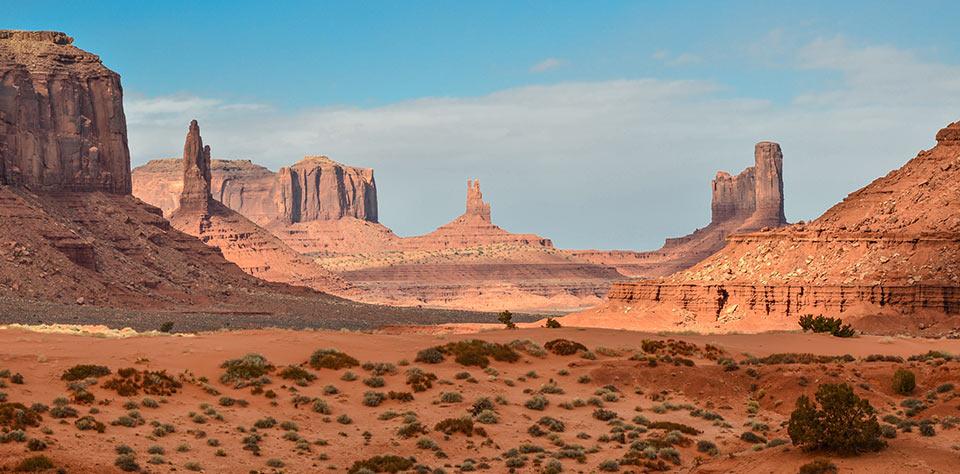 Landscape in a desert